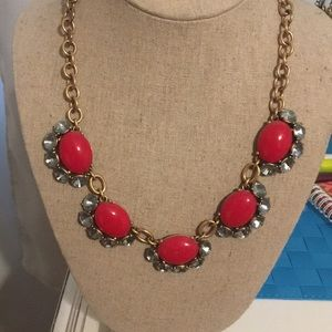 Red, Silver, and Gold Necklace Stella and Dot